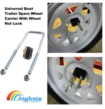 boat trailer spare wheel carrier-boat trailer spare wheel holder
