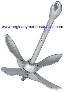 Galvanized Grapnel Spoon Folding Boat Anchor