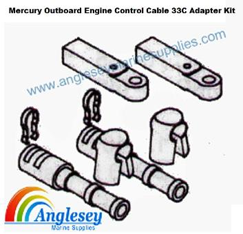 Mercury Outboard Engine Control Cable 33C Adapter Kit