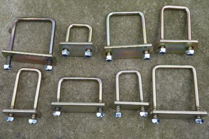 boat trailer u bolts square