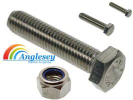 A4 marine grade stainless nuts bolts set screws nuts nylon locking 316 a4