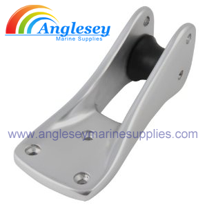 SMALL ALUMINIUM BOAT STEMHEAD BOW ROLLER ANODISED
