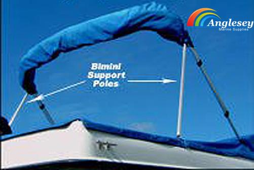 bimini boat sun cover support poles