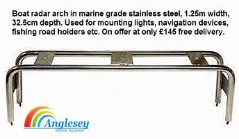 Stainless Steel Boat Radar Arch