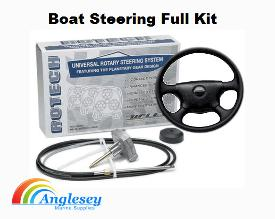 Boat Steering Kit Wheels Cables Hydraulic Outboard Boot