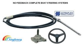 boat steering system no feedback helm cable bezel wheel heavy duty