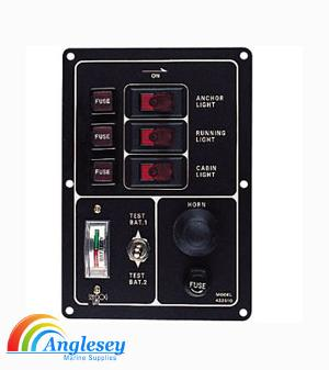 Boat Switch Panel With Battery Tester And Horn