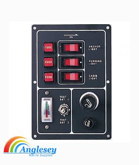 Boat Switch Panel With Lighter And Battery Testing