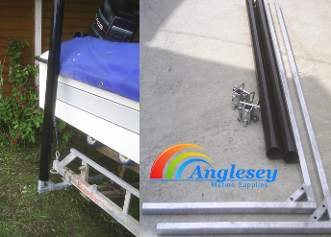 boat trailer docking pole arms