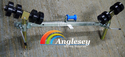 boat trailer side roller outrigger bar