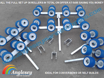boat trailer rollers bunk conversion kit new build