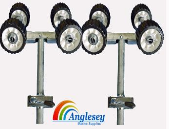 non marking boat trailer rollers