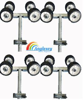 boat trailer rollers on poles