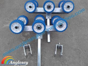 boat trailer rollers conversion kit nylon non marking galvanised
