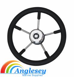 boat steering wheel stainless steel