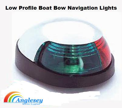 boat bow navigation lights