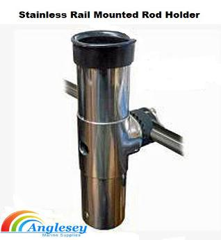boat fishing rod holder stainless steel rail mounted