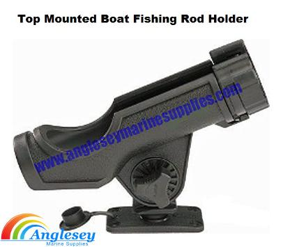 boat fishing rod holder top mounted