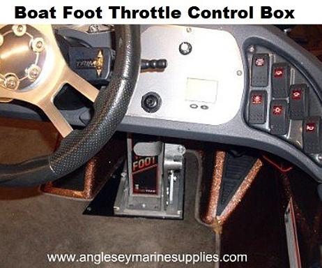 boat foot throttle control box