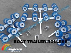 boat trailer rollers bunk conversion