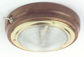 Boat Cabin Ceiling Light Brass Wood