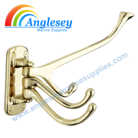 canal-narrowboat-coat hanger-brass