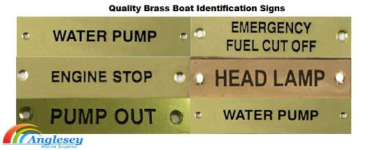 brass boat name signs