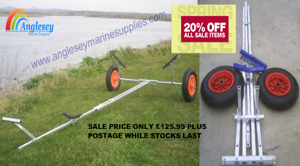 DINGHY LAUNCH LAUNCHING TROLLEY SAILING RIB INFLATABLE DOLLY
