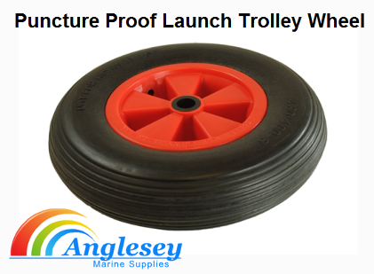 dinghy launching trolley wheel puncture proof