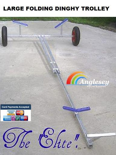 dinghy launching trolley large
