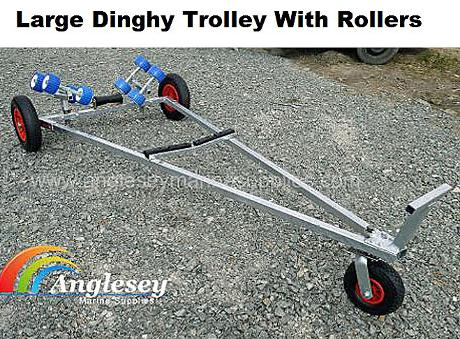 Dinghy Launching Trolley With Rollers