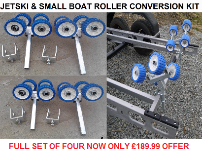 boat trailer jetski rollers bunk conversion kit rollers