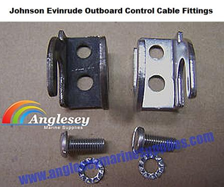 johnson evinrude outboard control cable fittings