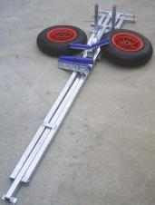 large dinghy launching trolley folded