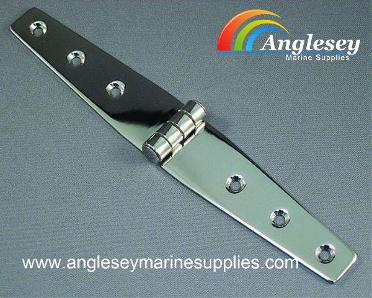 large stainless steel boat hinge