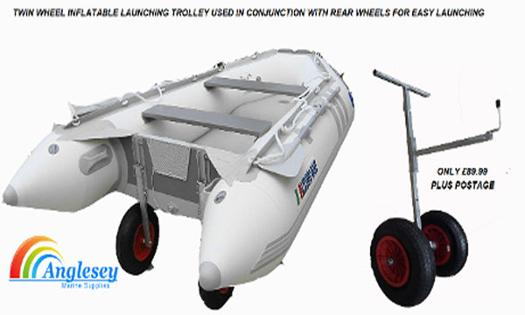 launching trolley for inflatable boat