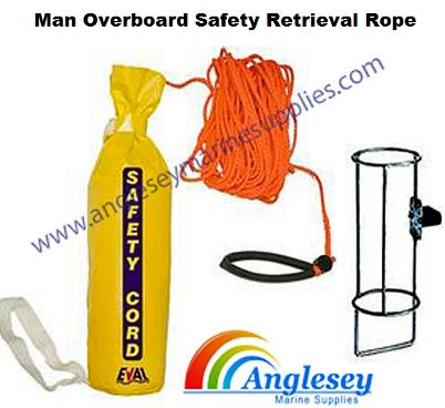 man overboard safety retrieval rope