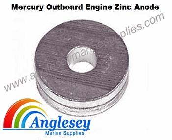 mercury outboard engine zinc anode round