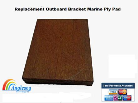outboard bracket marine ply pad