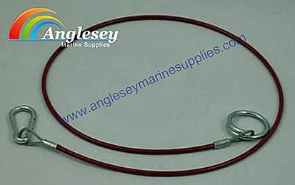 Outboard Engine Bracket Safety Lanyard