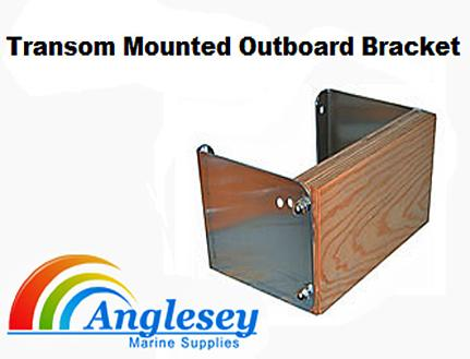 outboard engine bracket transom mounted