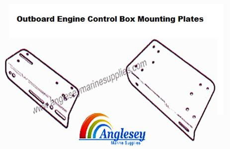 outboard engine control box mounting plate
