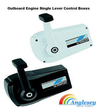 outboard engine control box single lever ultraflex teleflex