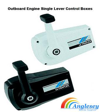 outboard engine control box single lever