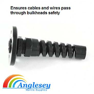 outboard engine control cable protector