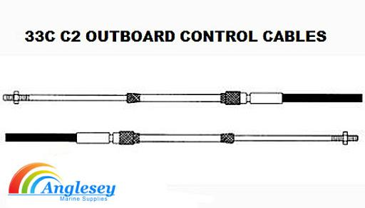 outboard engine control cables 33c c2