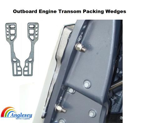 outboard engine transom wedges packers
