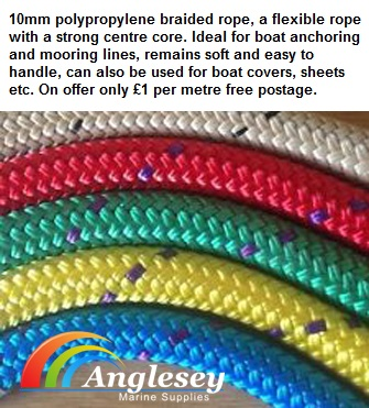 Polyester Braid on Braid Pre Stretched Boat Yacht Dinghy rope Halyards Rigging