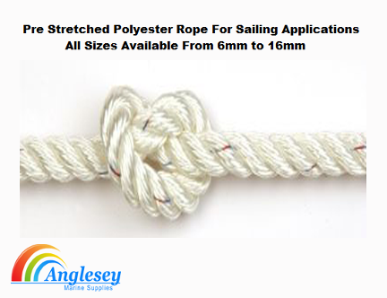 pre stretched polyester rope