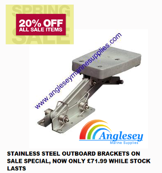 stainless steel outboard bracket motor auxiliary engine
